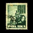 POLAND - CIRCA 1955: A stamp printed in Poland shows motocross, circa 1955 — Stock Photo