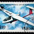 POLAND - CIRCA 1978: A stamp printed in Poland shows motor glider SZD-45 Ogar, circa 1978 — Stock Photo #12168418