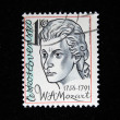 CZECHOSLOVAKI- CIRC1981: Stamp printed in Czechoslovakishows Mozart, circ1981 — Stock Photo #12168477