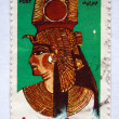 Royalty-Free Stock Photo: EGYPT - CIRCA 2000: A 1-pound stamp printed in Egypt shows Queen Nefertari wearing a royal headdress, circa 2000