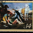 USSR - CIRCA 1971: A stamp printed in the USSR shows a painting by the artist Nicolas Poussin &amp;quot;Tancred and Erminia&amp;quot;, one stamp from series, circa 1971 - Stock Photo