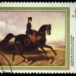 USSR - CIRCA 1988: Stamp printed in the USSR shows Nicolay Sverchkov &amp;quot;Horsewoman Riding&amp;quot;, circa 1988 - Stock Photo