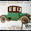 UMM QIWAIN- CIRCA 1968: A stamp printed in one of the emirates in the United Arab Emirates shows vintage car Oakland 1912 year,full series - 48 of stamps, circa 1968 — Stock Photo