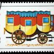 BULGARIA - CIRCA 1988: A stamp printed in Bulgaria shows Horse-drawn carriages, circa 1988 — Stock Photo