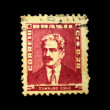 BRASIL - CIRCA 1910s: A stamp printed in Brasil shows Oswaldo Cruz, circa 1910s - Stock Photo