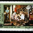 VIETNAM - CIRCA 1980s: A stamp printed in Vietnam shows a drawing by the artist Tran Van Can portrait, circa 1980s — Stock Photo
