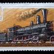 USSR - CIRCA 1979: A stamp printed in USSR shows passanger steam locomotive of type 1-3-0 series A, stamp from series, circa 1979 — Stock Photo