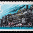 USSR - CIRCA 1979: A stamp printed in USSR shows Commodity steam locomotive of type 2-3-1 series Lp 1915 year, stamp from series, circa 1979 - 图库照片