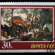 USSR - CIRCA 1987: A stamp printed in the USSR shows draw by artist Pieter Bruegel Jr - Adoration of the Magi, circa 1987 — Stock Photo #12169410
