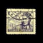 Постер, плакат: CZECHOSLOVAKIA CIRCA 1953: A Stamp printed in Czechoslovakia shows Antoine Marie Jean Baptiste Roger de Saint Exup
