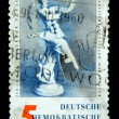 DDR- CIRCA 1960: Stamps printed in DDR (East Germany) shows Porcelan figure from Meissn, circa 1960 — Stock Photo
