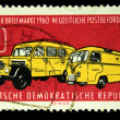 DDR - CIRCA 1960: A stamp printed in DDR (East Germany) shows post cars, circa 1960 — Stock Photo