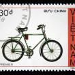 Stock Photo: VIETNAM - CIRC1988: stamp printed by Vietnam shows bicycle Premier, circ1988