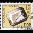 DDR - CIRCA 1985: A stamp printed in DDR (East Germany) shows semiprecious stone quartz, circa 1985 — Stok fotoğraf
