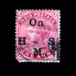 INDIA - CIRCA 1856: A stamp printed in India shows UK Queen Victoria, circa 1856 - Stock Photo