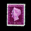NETHERLANDS - CIRCA 1951: A stamp printed in the Netherlands shows image of Queen Juliana, series, circa 1951 - Stock Photo
