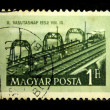 HUNGARY - CIRCA 1952: A Stamp printed in Hungary shows railroad, circa 1952 - Stock Photo