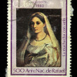 "Stock Photo: CUB- CIRC1983: Stamp printed in Cubshows Rafael ""veiled girl"", circ1983"