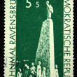 Stock Photo: DDR - CIRC1950: stamp printed by DDR (East Germany) shows monument in Concentration camp Ravensbruck circ1950
