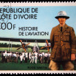 COTE D IVOIRE - Republic1971: A stamp printed in Cote d Ivoire shows Ross Smith, series devoted history of aviation, circa 1971 - Stock Photo