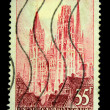 FRANCE - CIRCA 1950s: A stamp printed in France shows Rouen Cathedral, circa 1950s - Stock Photo
