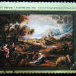 USSR - CIRCA 1977: A stamp printed in the USSR shows draw by artist Rubens &amp;quot;Landscape with rainbow&amp;quot;, circa 1977 - Stock Photo