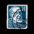 Постер, плакат: GERMANY CIRCA 1950s: a stamp printed in the Germany Rudolf Virchow circa 1950s