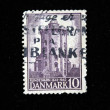 DENMARK - CIRCA 1942: A stamp printed in the Denmark shows Round Tower of Trinity Church, circa 1942 - Stock Photo