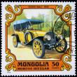 MONGOLIA - CIRCA 1980: stamp printed by Mongolia, shows old car, circa 1980. — Stock Photo