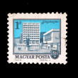 HUNGARY - CIRCA 1972: A Stamp printed in Hungary shows view of city Salgótarján, circa 1972 — Stock Photo