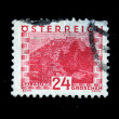 AUSTRIA - CIRCA 1931: A stamp printed in Austria shows Salzburg, circa 1931 — Stock Photo