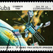 Stock Photo: CUB- CIRC1984: Stamp printed in Cubshows Satilate Electron-1, circ1984