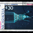 NICARAGU- CIRC1984: Stamp printed in Nicaragushows Satilate Luna-2, circ1984 — Stock Photo #12169887