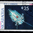 NICARAGUA - CIRCA 1984: A Stamp printed in Nicaragua shows Satilate Luna-2, circa 1984 - Stock Photo