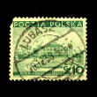 Royalty-Free Stock Photo: POLAND - CIRCA 1938: A stamp printed in Poland shows view of Sea palace Gdansk, circa 1938