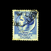 "ITALY - CIRCA 1952: A stamp printed in Italy shows ""60 lire"", series, circa 1952 — Foto Stock"