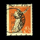 POLAND - CIRCA 1956: A stamp printed in Poland shows Adam Mickiewicz, circa 1956 — Stockfoto