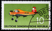 GDR - CIRCA 1969: A stamp printed in GDR (East Germany) shows Airplane Z-37, circa 1969 — Stock Photo