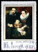 "USSR - CIRCA 1970: A stamp printed in the USSR shows draw by Anthony van Dyck ""Family portrait"", circa 1970 — Stock Photo"