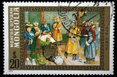 MONGOLIA - CIRCA 1972: A stamp printed in Mongolia shows Ard Ayuush, circa 1972 — Stockfoto
