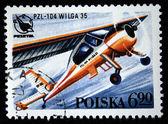 POLAND - CIRCA 1978: A stamp printed in Poland shows Ariplane PZL-104 Wilga 35, circa 1978 — Stock Photo