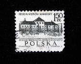 POLAND - CIRCA 1965: A stamp printed in Poland shows Warshaw arsenal, circa 1965 — Stockfoto