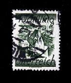 AUSTRIA - CIRCA 1930s: A stamp printed in Austria shows Austrian city, circa 1930s — Stock Photo