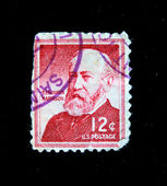 UNITED STATES OF AMERICA - CIRCA 1963: A stamp printed in the United States of America shows Benjamin Harrison, circa 1963 — Stock Photo