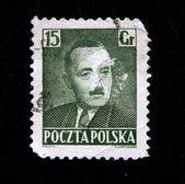 POLAND - CIRCA 1950: A stamp printed in Poland shows Boleslaw Bierut, circa 1950 — Stock Photo