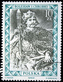 POLAND - CIRCA 1987: : A stamp printed in Poland shows King of Poland Boleslaw I Chrobry, circa 1987 — Stockfoto