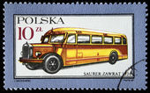 POLAND - CIRCA 1987: A stamp printed in Poland shows Bus Super-Zawrat - 1936, circa 1987 — Stock Photo