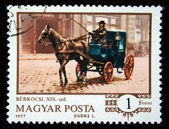 HUNGARY - CIRCA 1977: A stamp printed in Hungary shows horse-drawn carriages, series, circa 1977 — Stock Photo