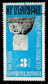 BULGARIA - CIRCA 1980s: A stamp printed in Bulgaria shows capital of a column in Preslav, circa 1980s — Zdjęcie stockowe