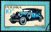 POLAND - CIRCA 1987: A stamp printed in Poland shows Car CWS T-1 - 1928, circa 1987 — Стоковое фото